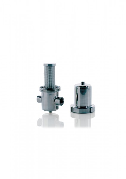 Edelstahl Sterilfilter FES005 S G1/4 Durchfluss 75 m³/h